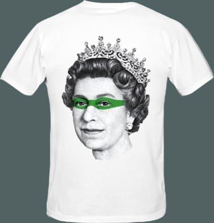 T-shirt Queen Elisabeth, projekt SASHKA